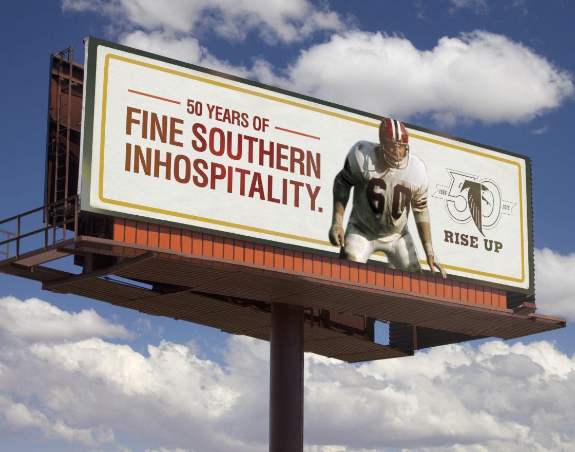 Blank billboard signs