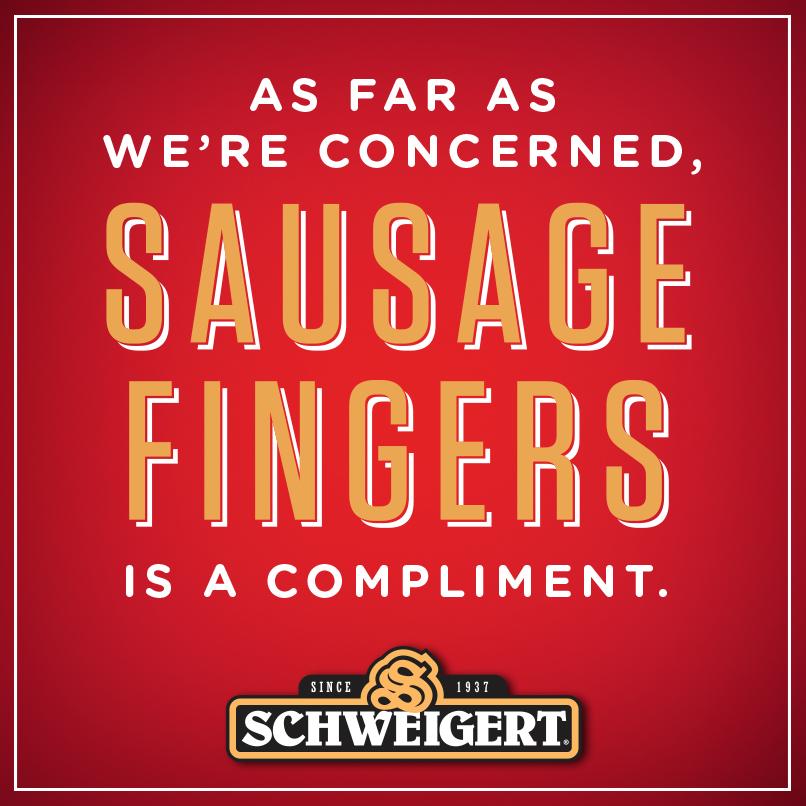 sausage fingers